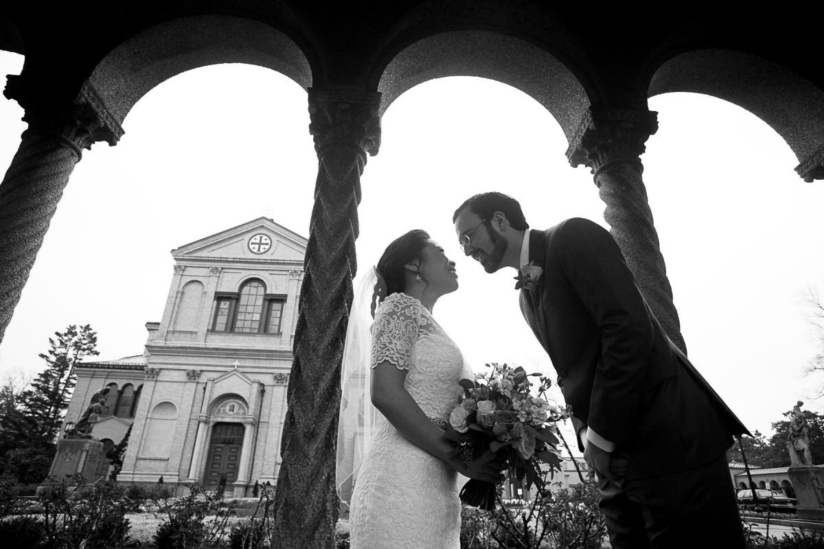 wedding portraits at st francis hall in washington dc