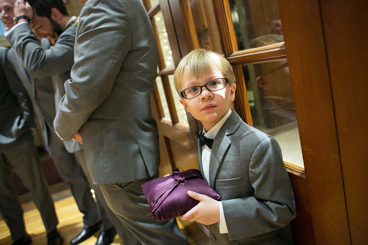 ring bearer before the wedding