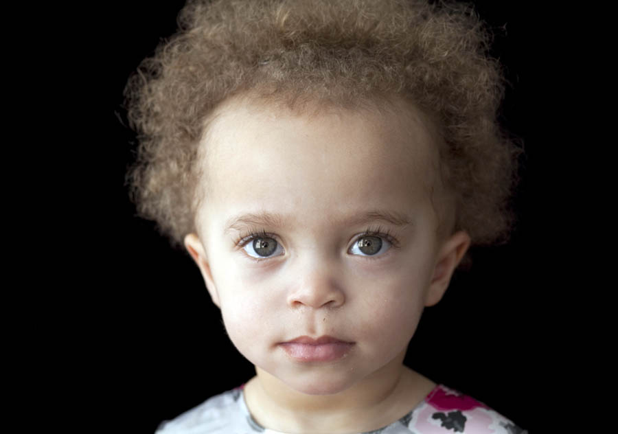 Portraits of a beautiful two-year old girl at Dennis Drenner's studio in Baltimore