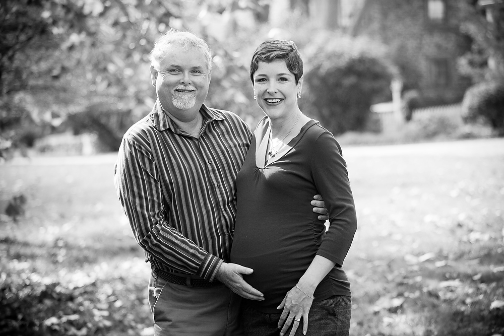 black and white couple with pregnancy
