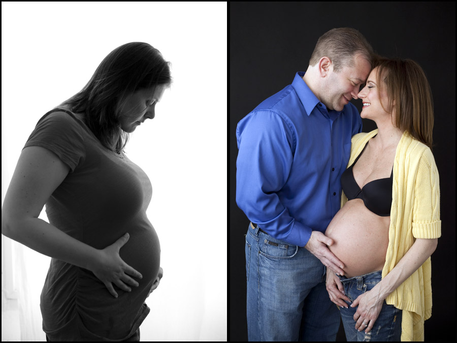 Studio portraits of pregnant women in Baltimore by Dennis Drenner
