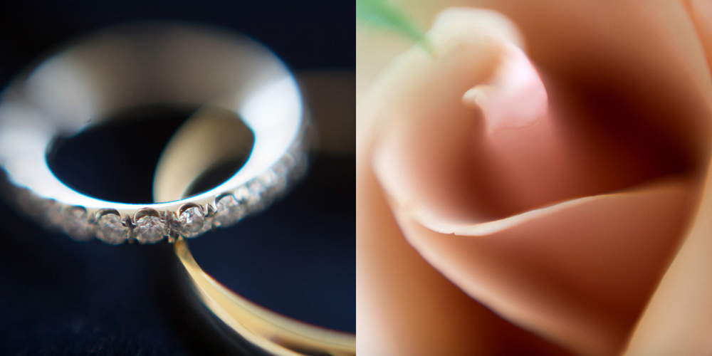 ring and flower extreme close ups