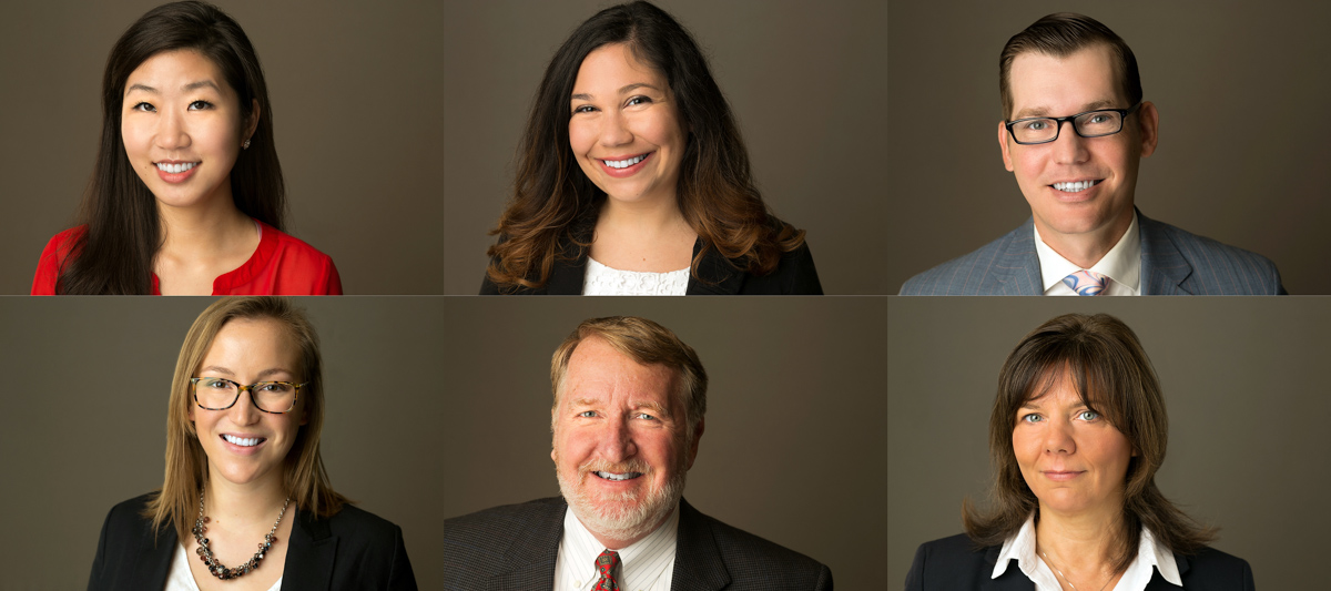 group headshots of financial planners