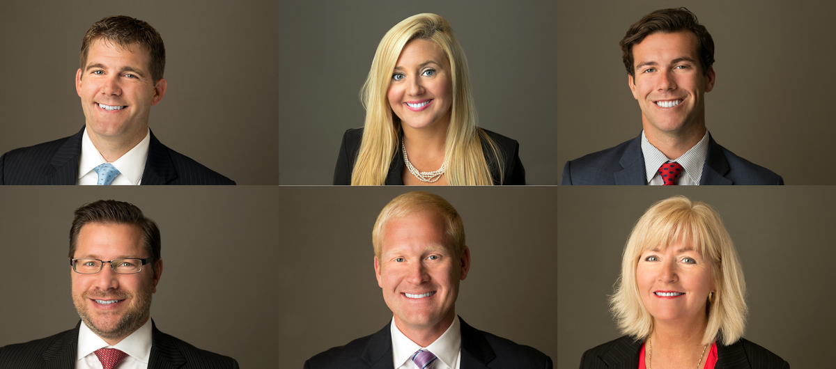 group headshots on location of northwestern mutual financial planners