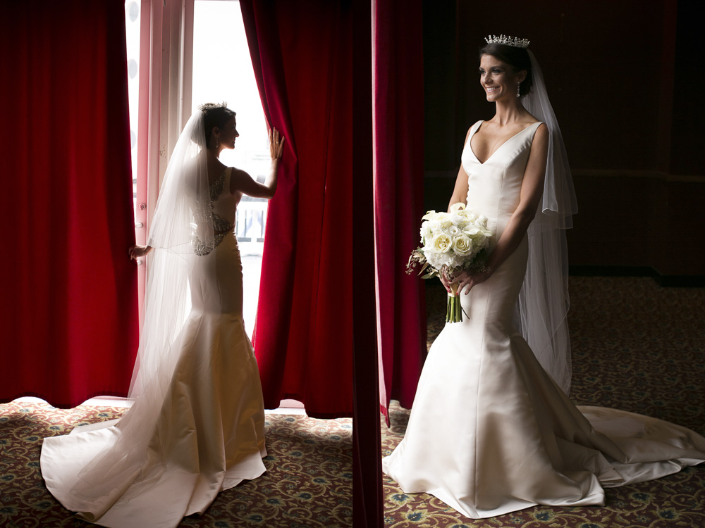 Bridal portraits at Pier 5 Hotel in Baltimore