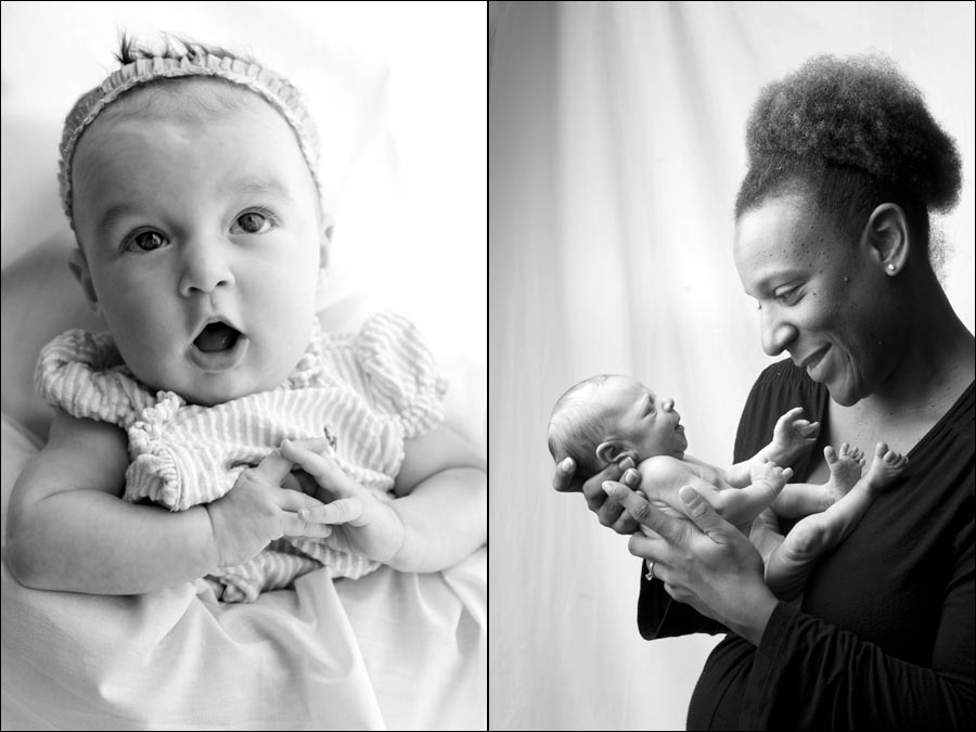 studio portraits of babies at dennis drenner's studio in baltimore