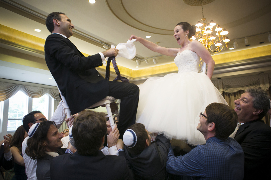 hora dance at jewish wedding in baltimore