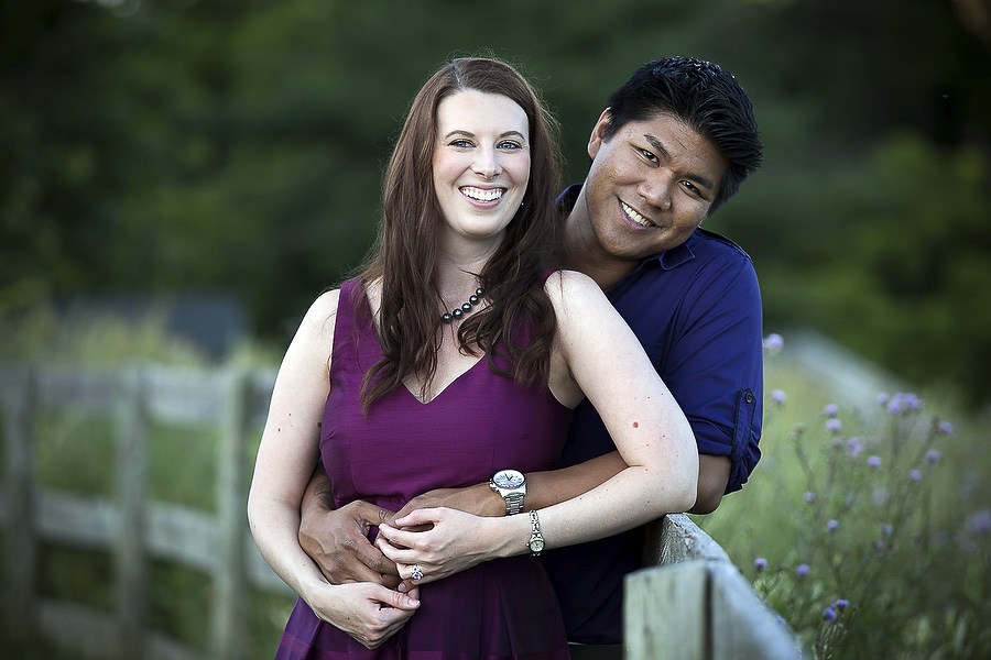 engagement photos at cromwell valley park - angela and david