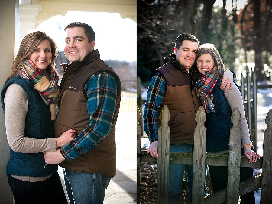 Allyson and Craig at Cylburn Arboretum for engagement photo session