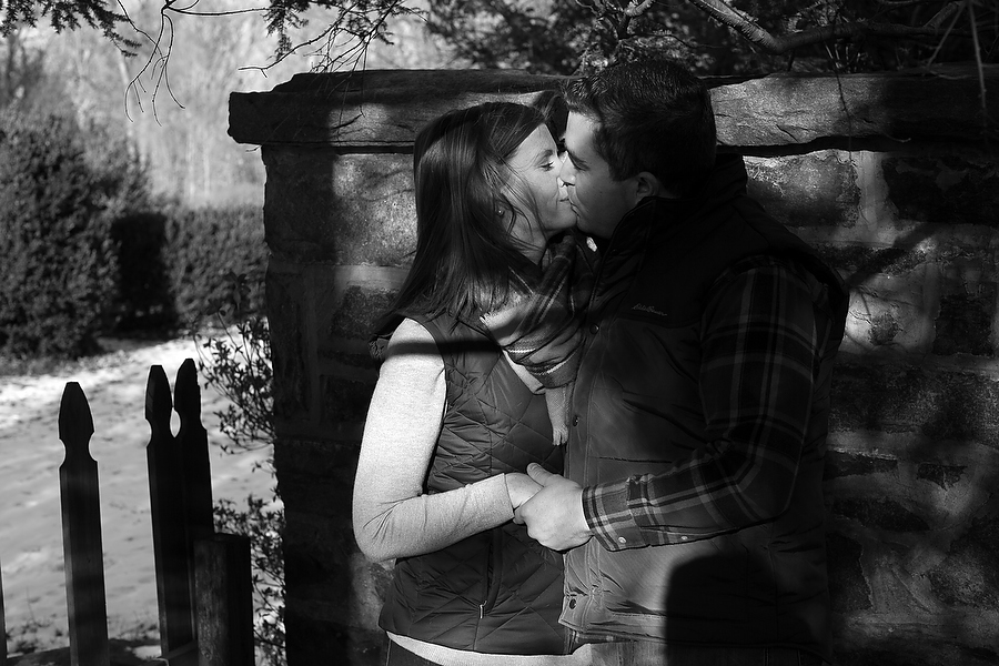 Engagement portrait session with Allyson and Craig at Cylburn Arboretum