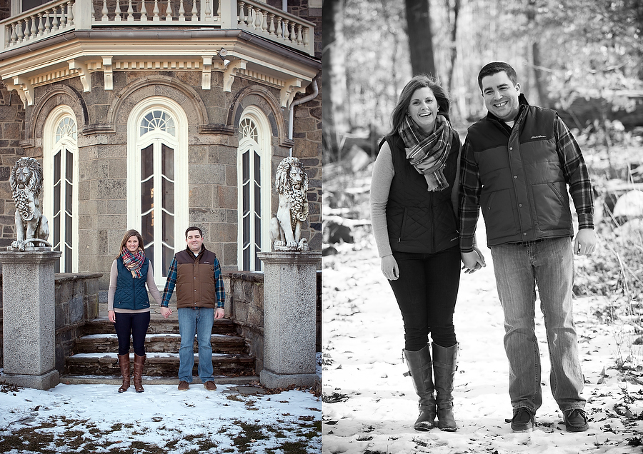 Engagement photo session at Cylburn Arboretum mansion