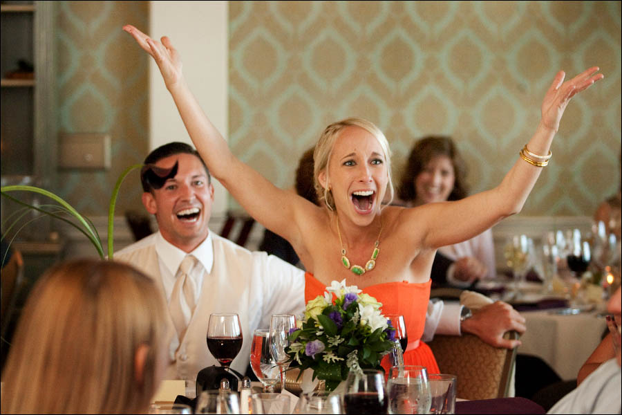 big reaction to wedding speech