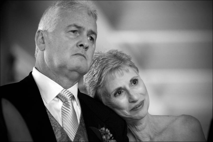 emotional parents at wedding