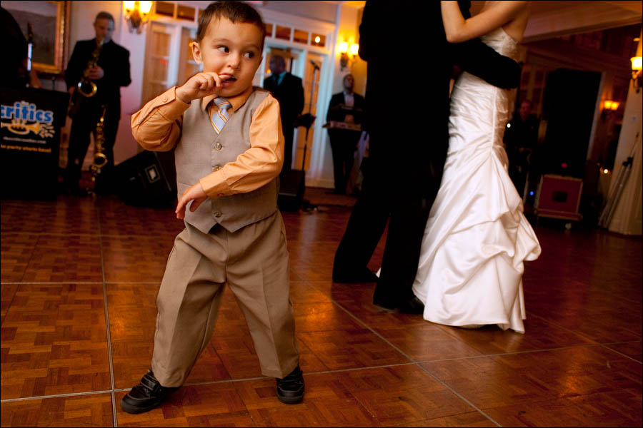 young kid on the dance floor during the first dance