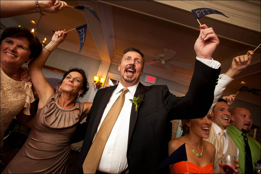 pitt fans at wedding