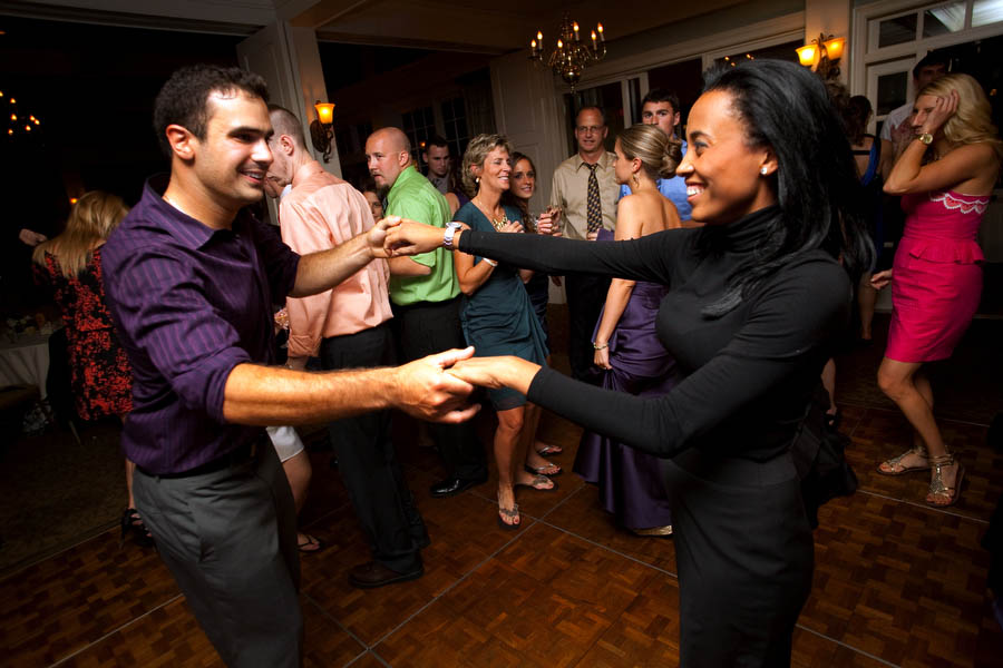 salsa dancing at destination wedding