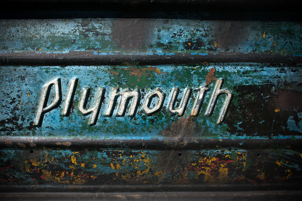 plymouth pickup detail with old paint