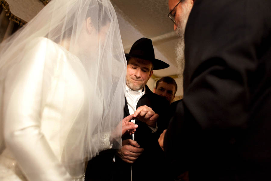 ring exchange under the chuppah