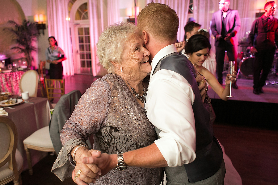 justin dances with his grandmother