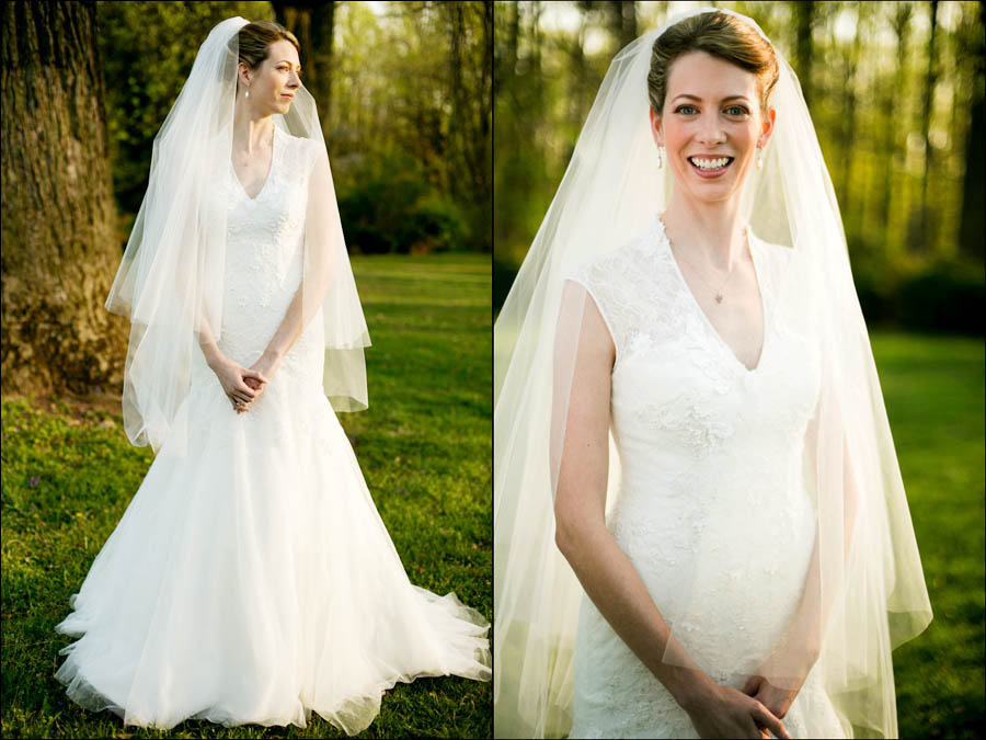 bridal portraits at liriodendron of keira on the back lawn