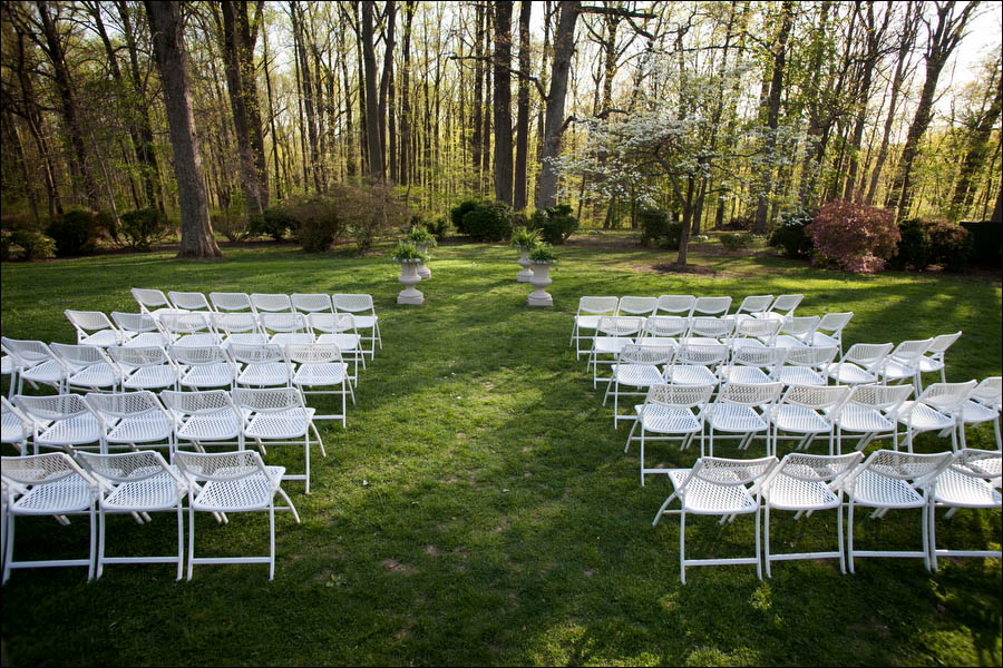outdoor wedding at liriodendron