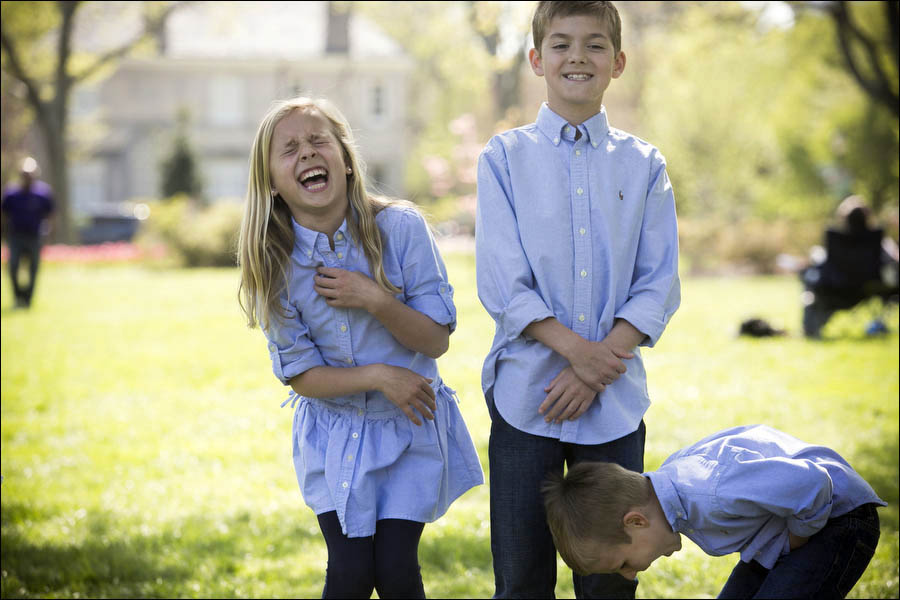 photo of kids laughing