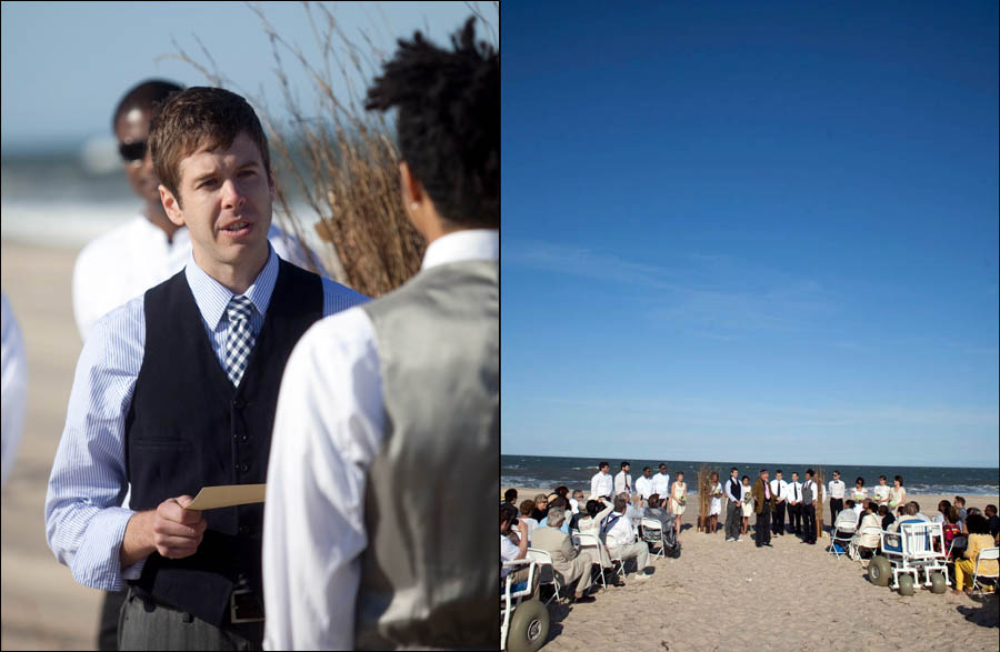 Wedding On The Beach At Indian River Life Saving Station